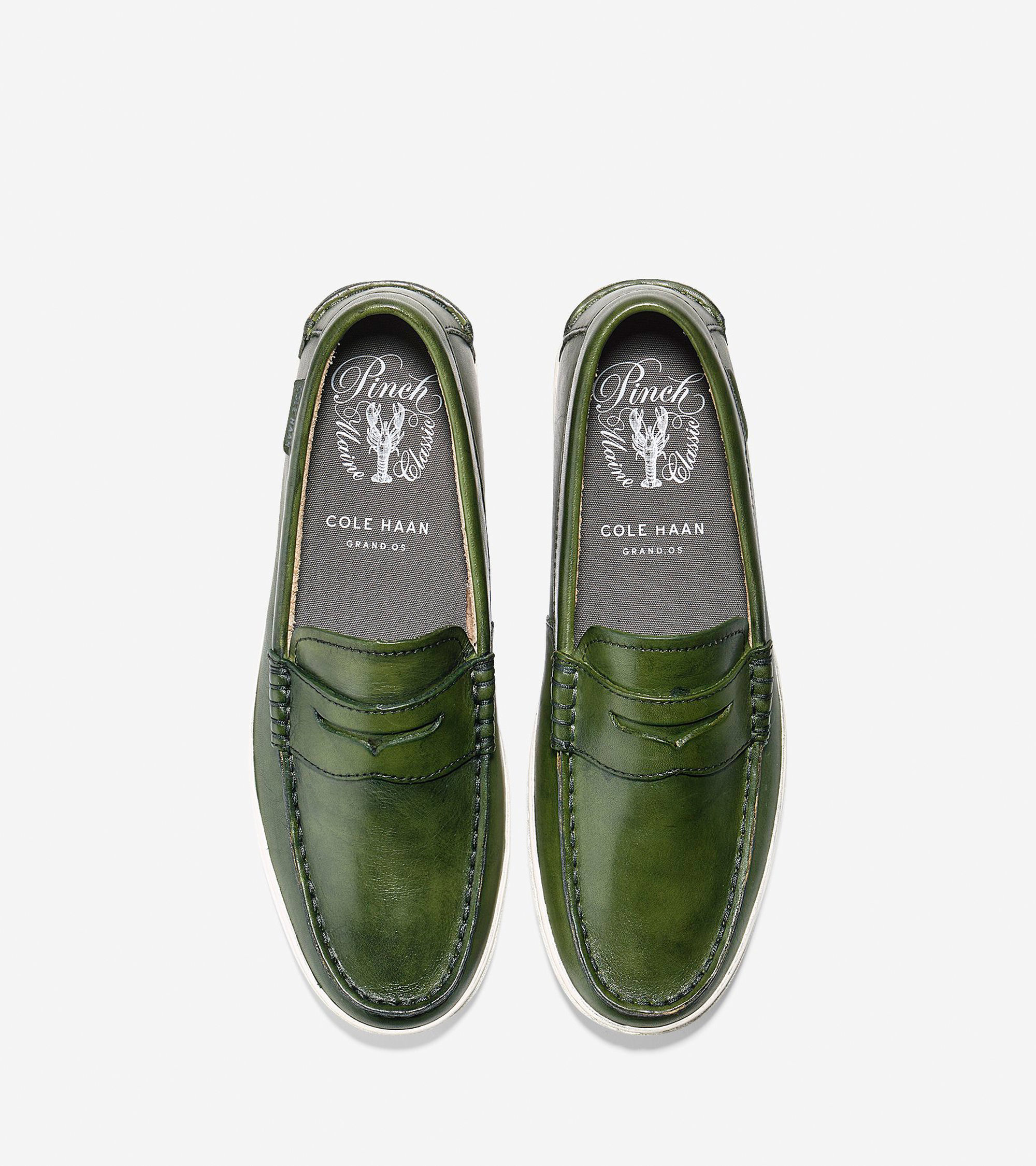 cole haan mens pinch handstained weekender in green for