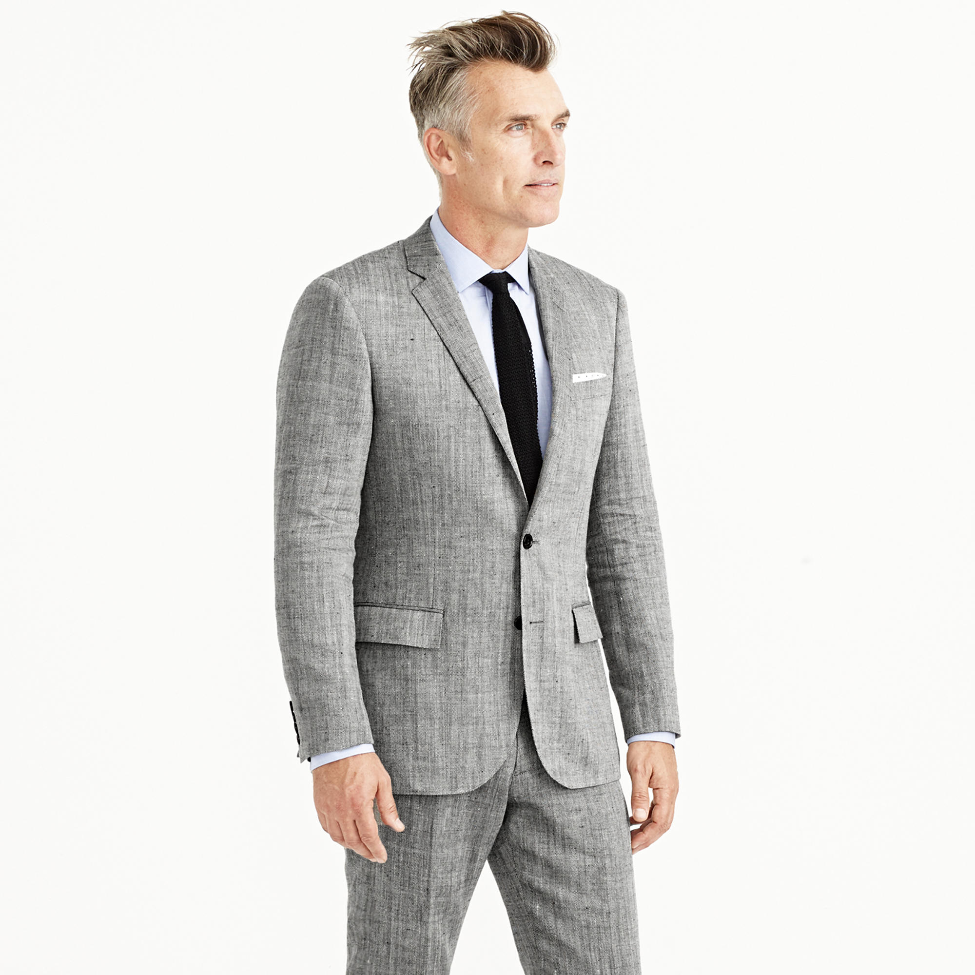 J.crew Ludlow Suit Jacket In Herringbone Italian Linen-silk in