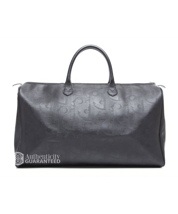 Dior Pre-Owned Black Trotteur Monogram Coated Canvas Duffle Bag in ... 0916131ea5c33