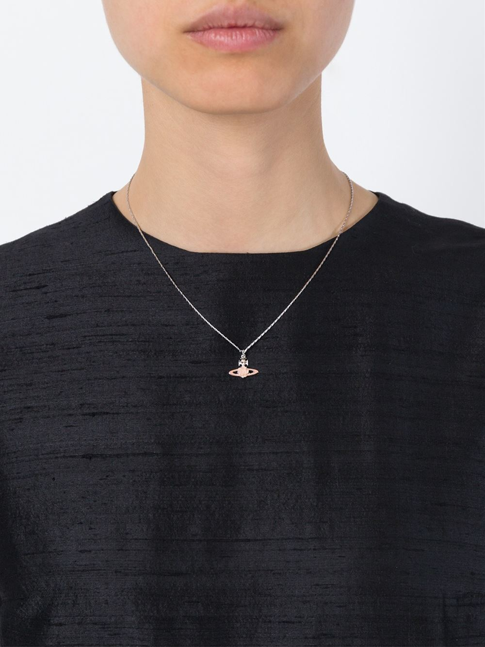 ba4ced378781b3 Vivienne Westwood Flower Orb Pendant Necklace in Pink - Lyst