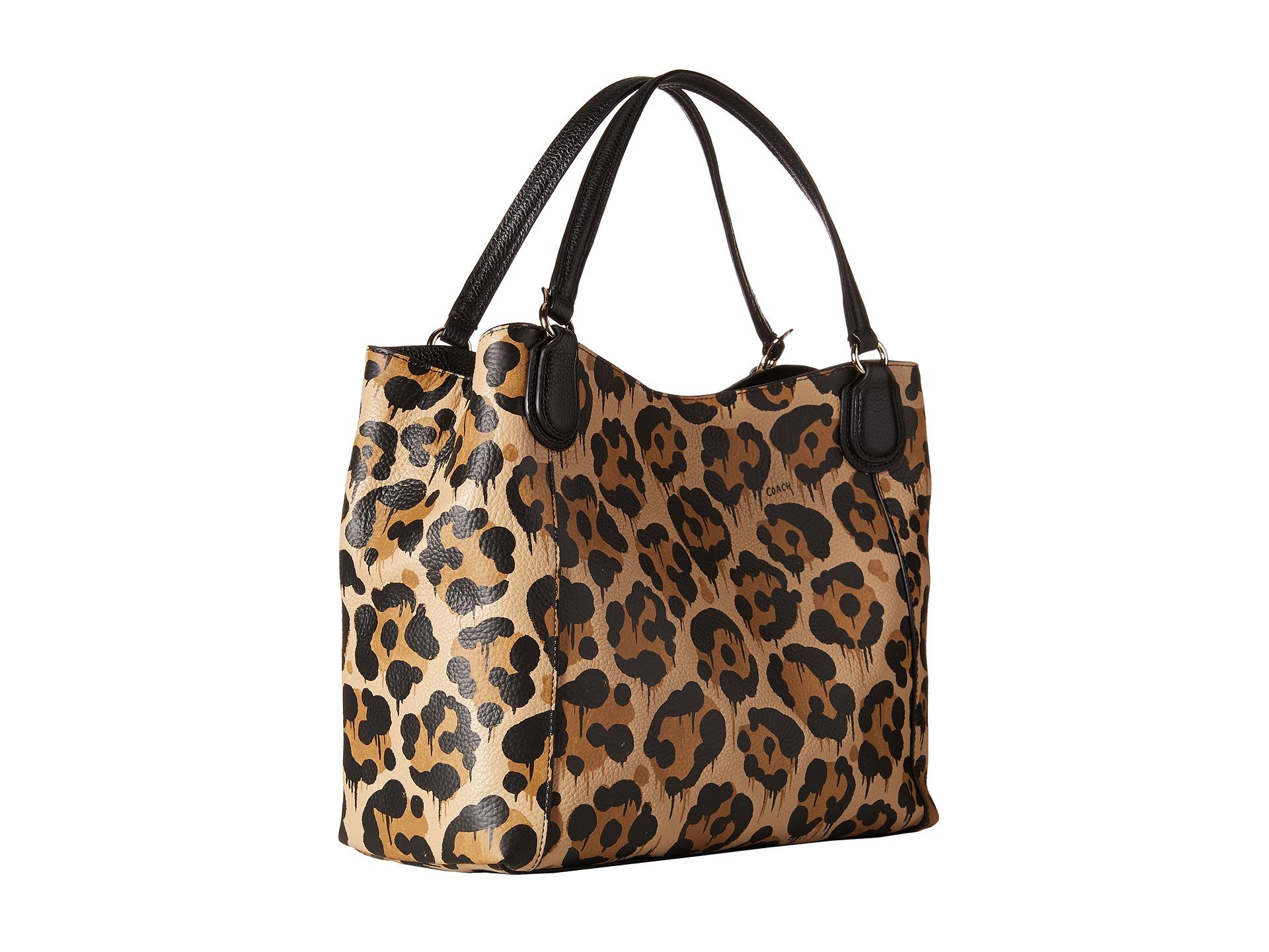 2b5a6419be10 Coach Leopard Ocelot Print E 28 In Brown Lyst. Information. Alpine Coach  Leopard Tote Bag Outlet F31901 B4 M2 Black