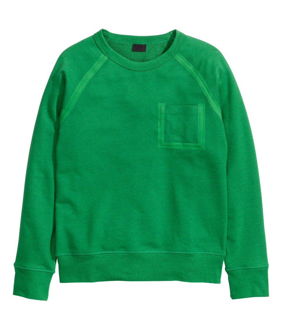 Lyst H Amp M Sweatshirt In Green For Men