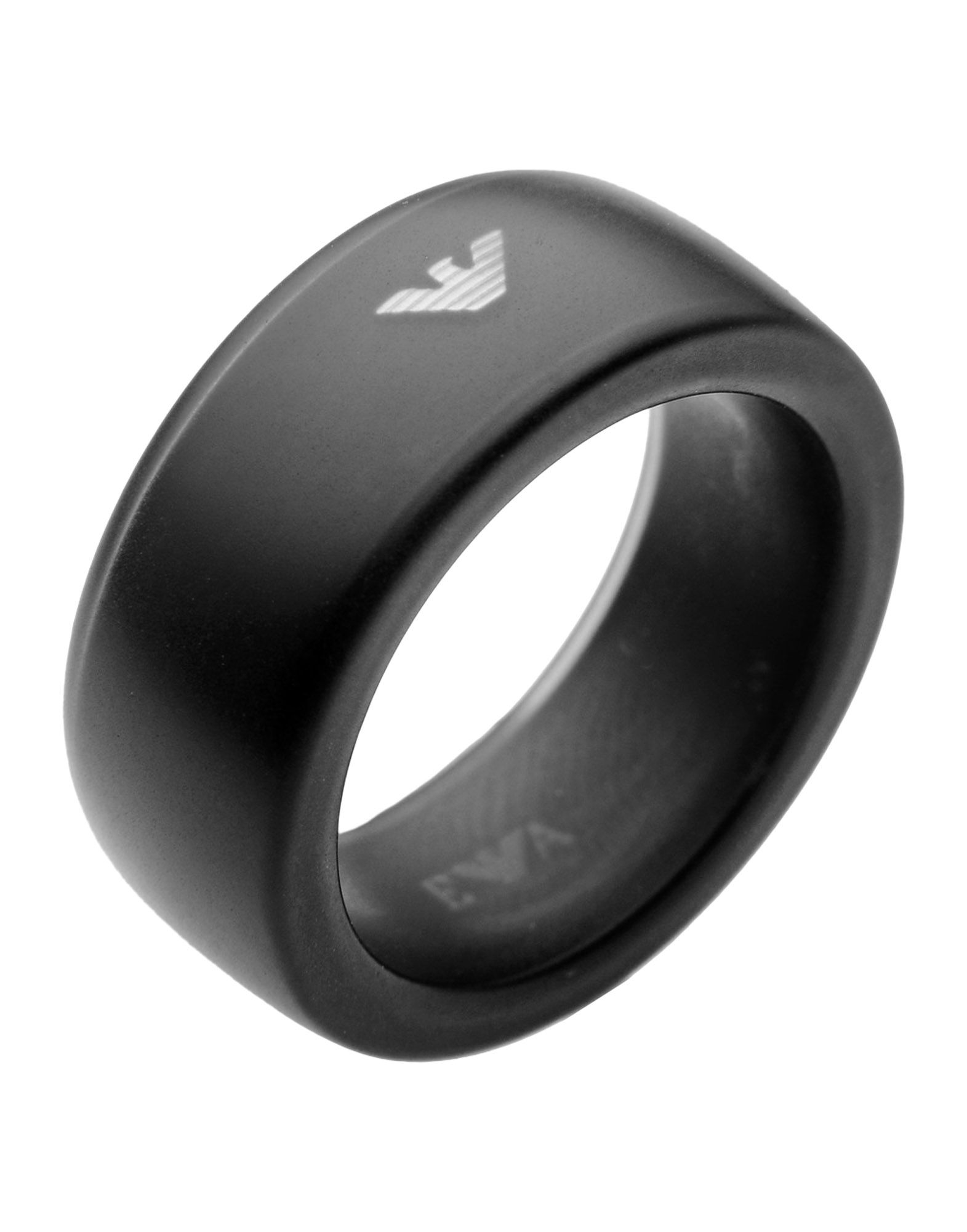 Emporio Armani Ring In Black For Men Lyst