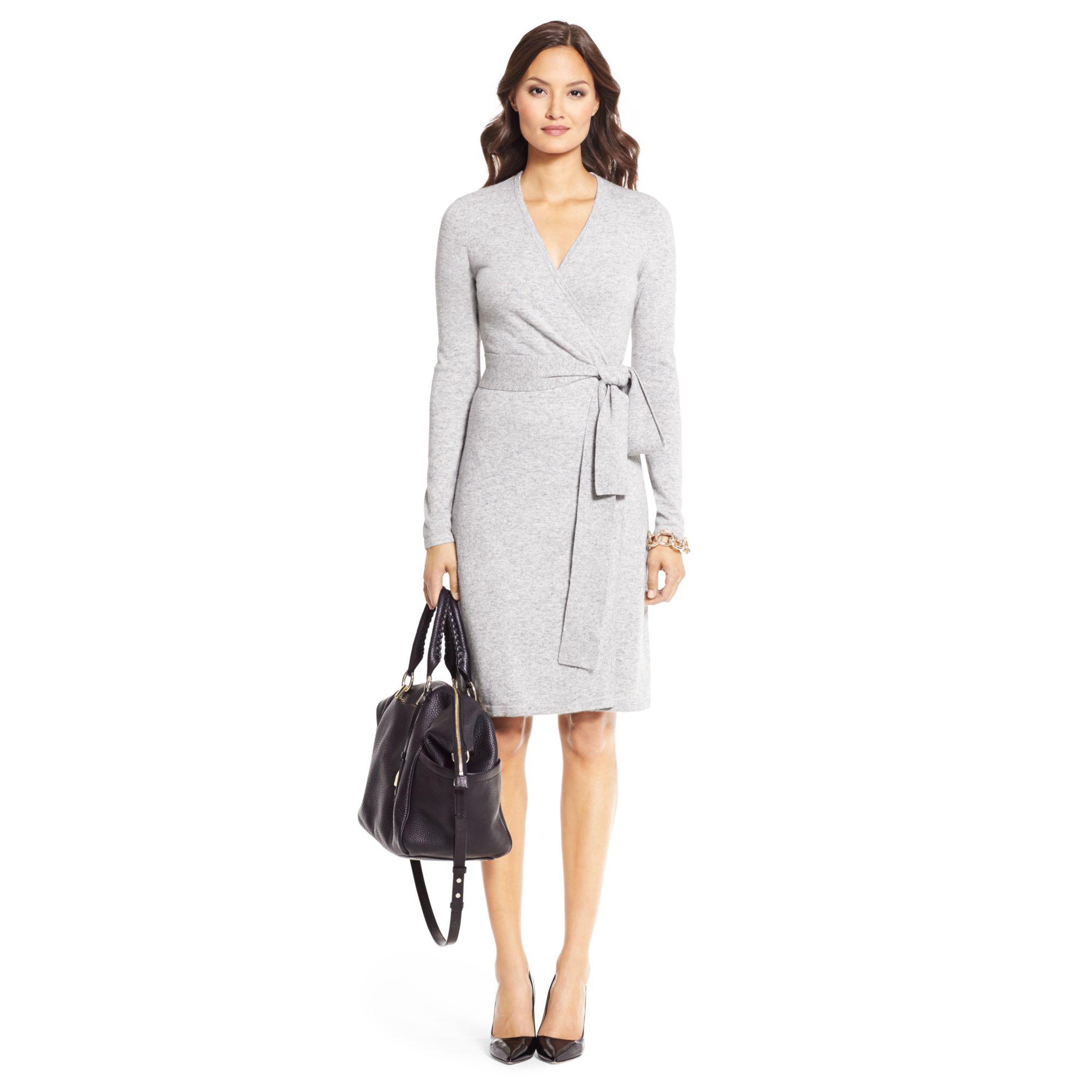 1eff0b47947 Diane von Furstenberg Linda Cashmere Blend Sweater Wrap Dress in ...