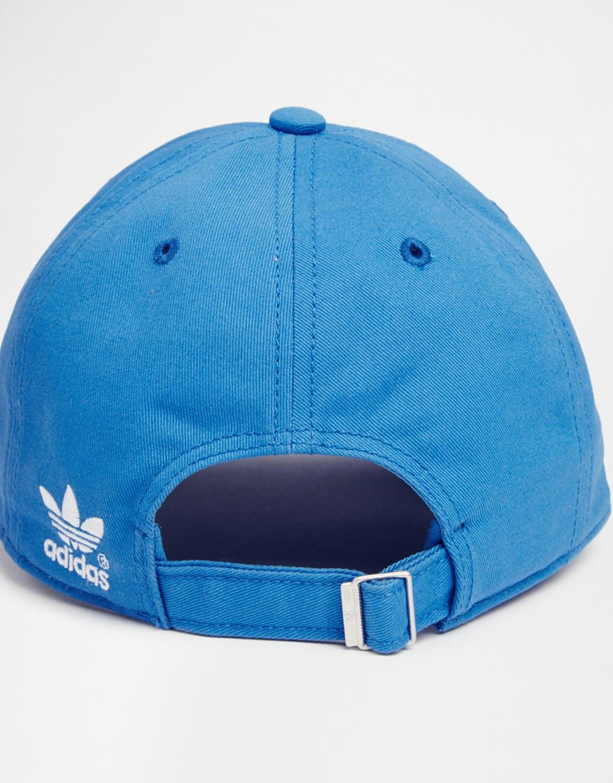 23dfb39376892 ... uk lyst adidas originals classic adjustable cap in blue for men 906e2  46d50