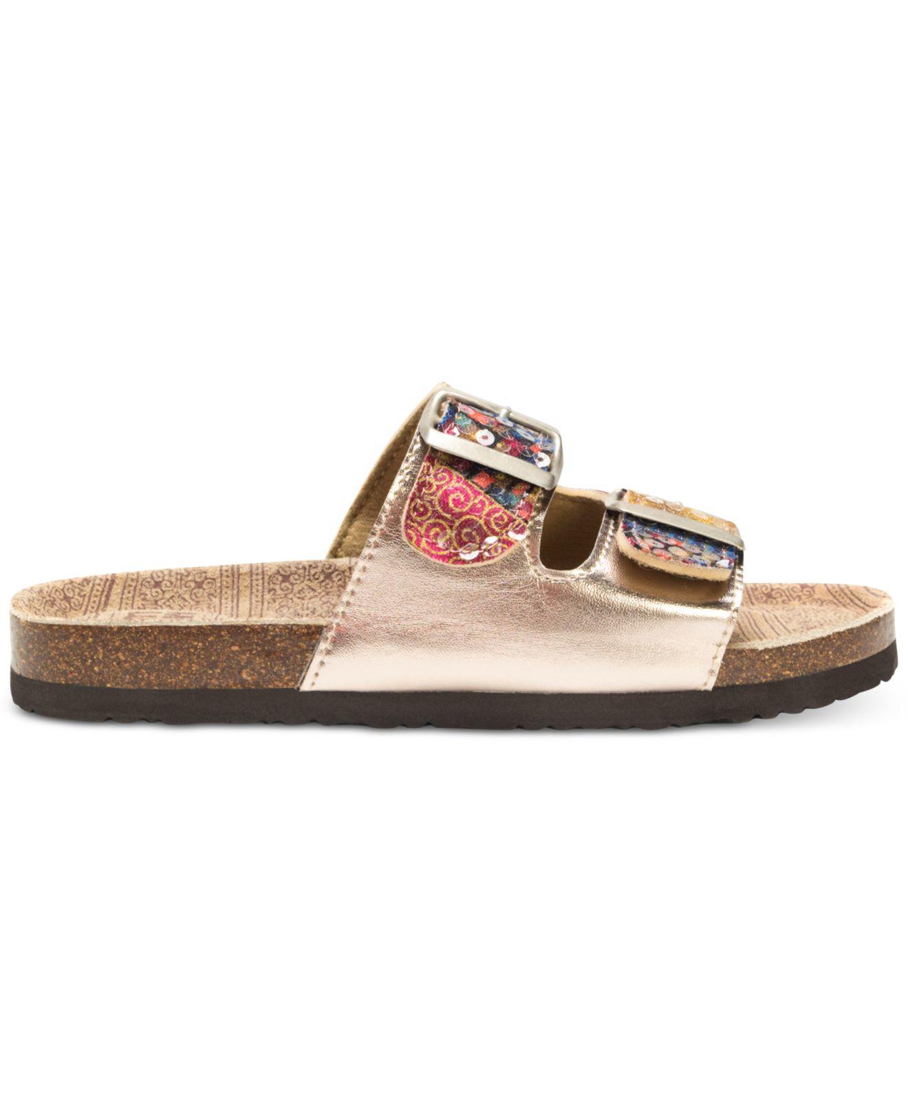 45aee80b7b64 Lyst - Muk Luks ® Marla Double-strap Slide-on Sandals