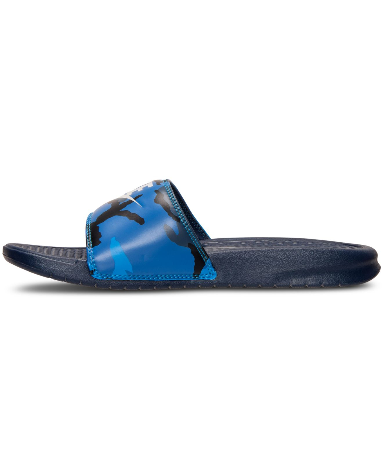 8fe32a6f8e078d Lyst - Nike Men s Benassi Jdi Print Slide Sandals From Finish Line ...