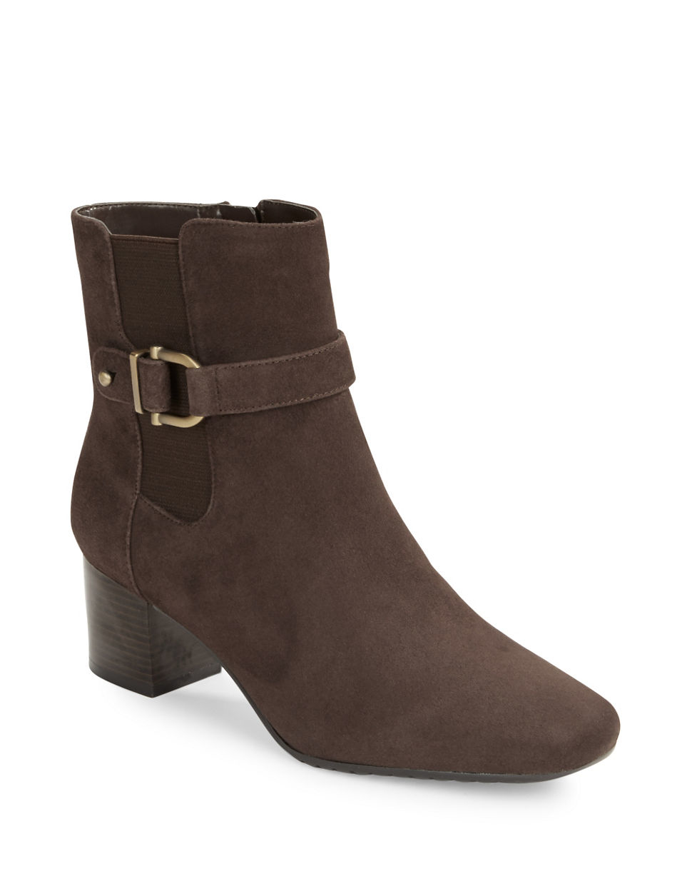 bandolino lorillard suede ankle boots in brown save 31
