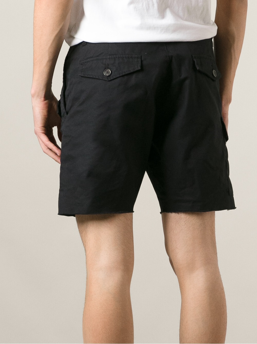 lyst dsquared178 cargo shorts in black for men