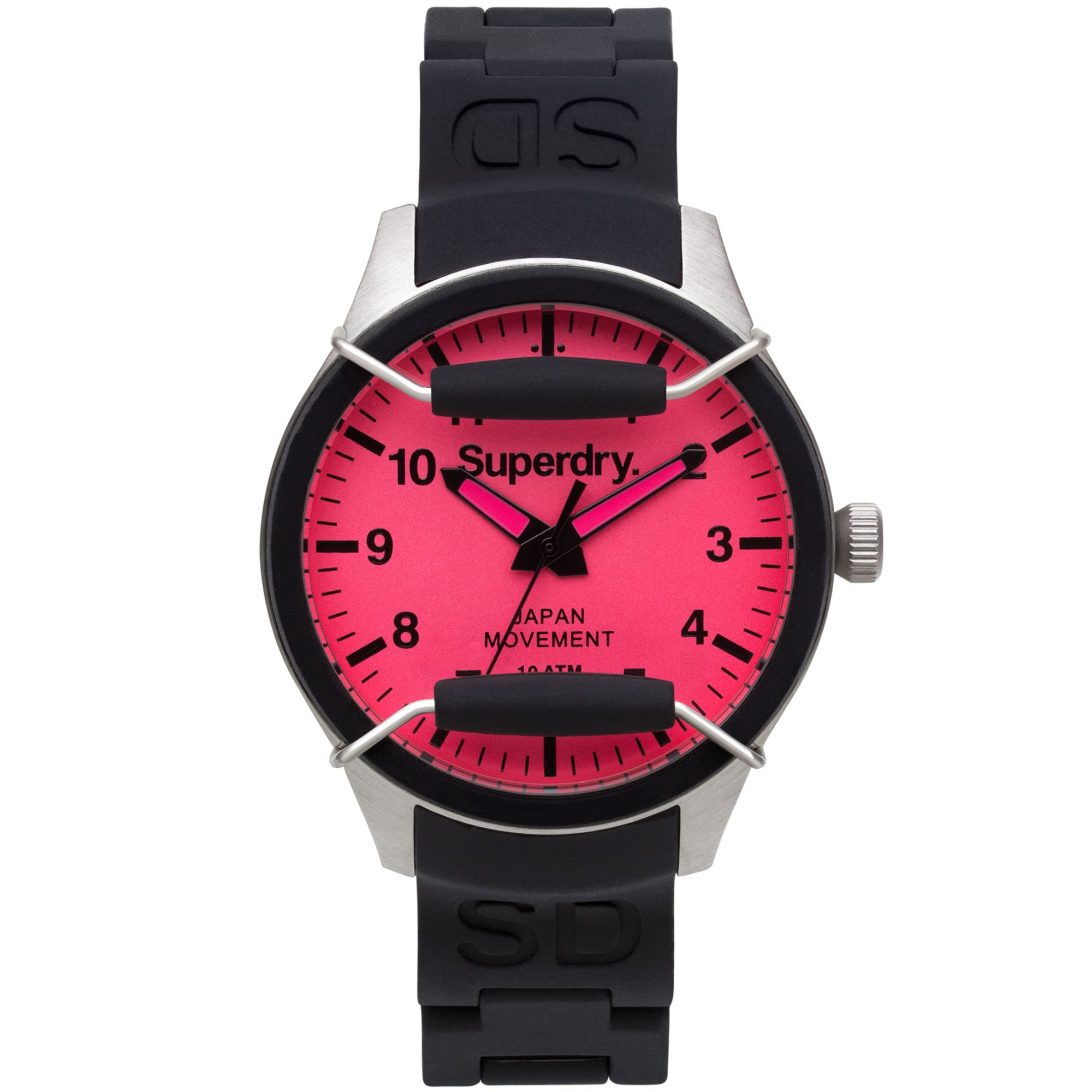 superdry s scuba pop black silicone 38mm
