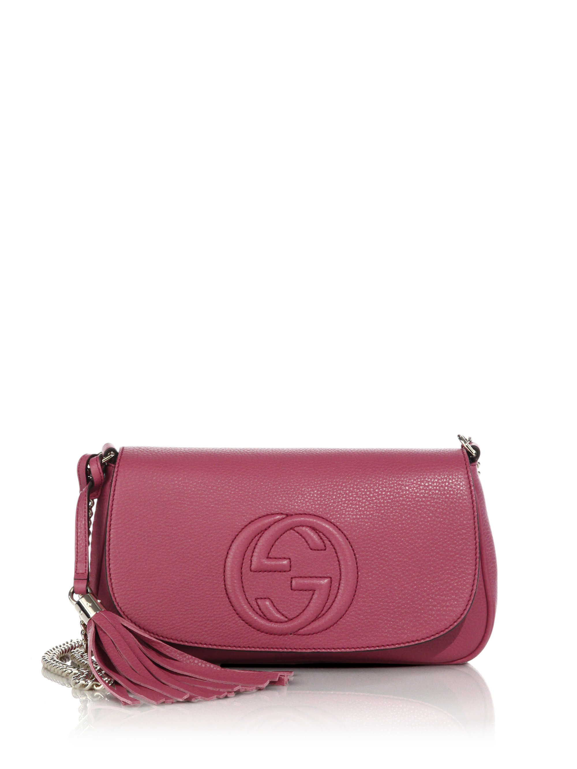 Lyst - Gucci Soho Leather Shoulder Bag in Pink Michael Kors Pink Crossbody Bags
