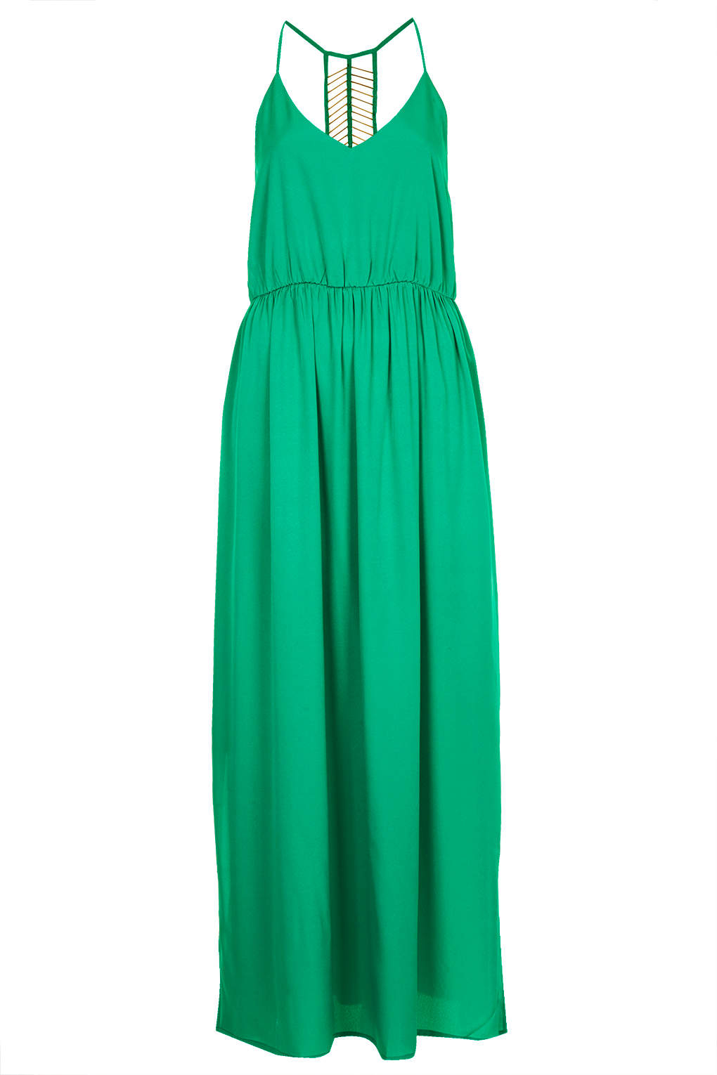 Lyst - Topshop Jewel Green Beaded Back Maxi Dress in Green