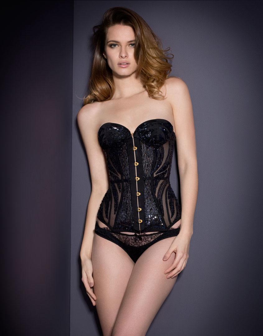 Agent provocateur Vesta Corset Black in Black