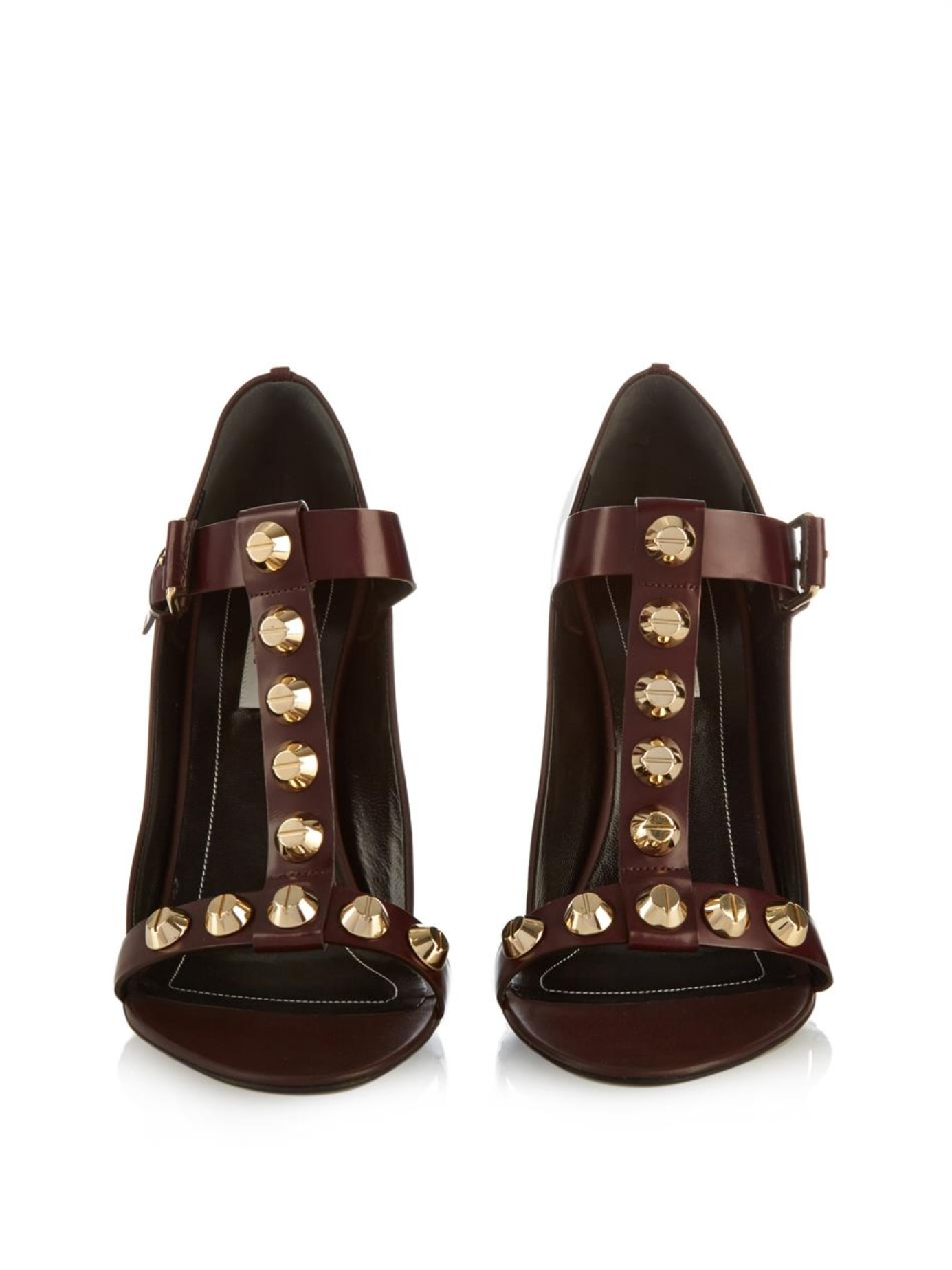Lyst Balenciaga Classic Screw Leather Wedge Sandals In