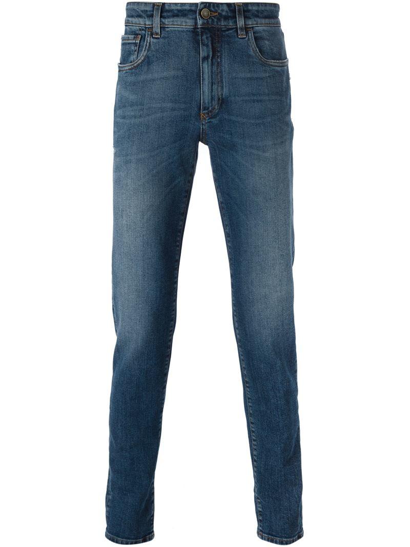 lyst dolce gabbana slim fit jeans in blue for men. Black Bedroom Furniture Sets. Home Design Ideas