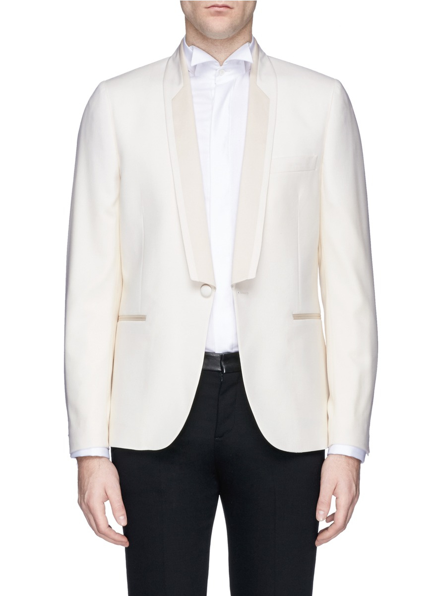 Paul Smith Soho Contrast Shawl Lapel Wool Tuxedo Jacket