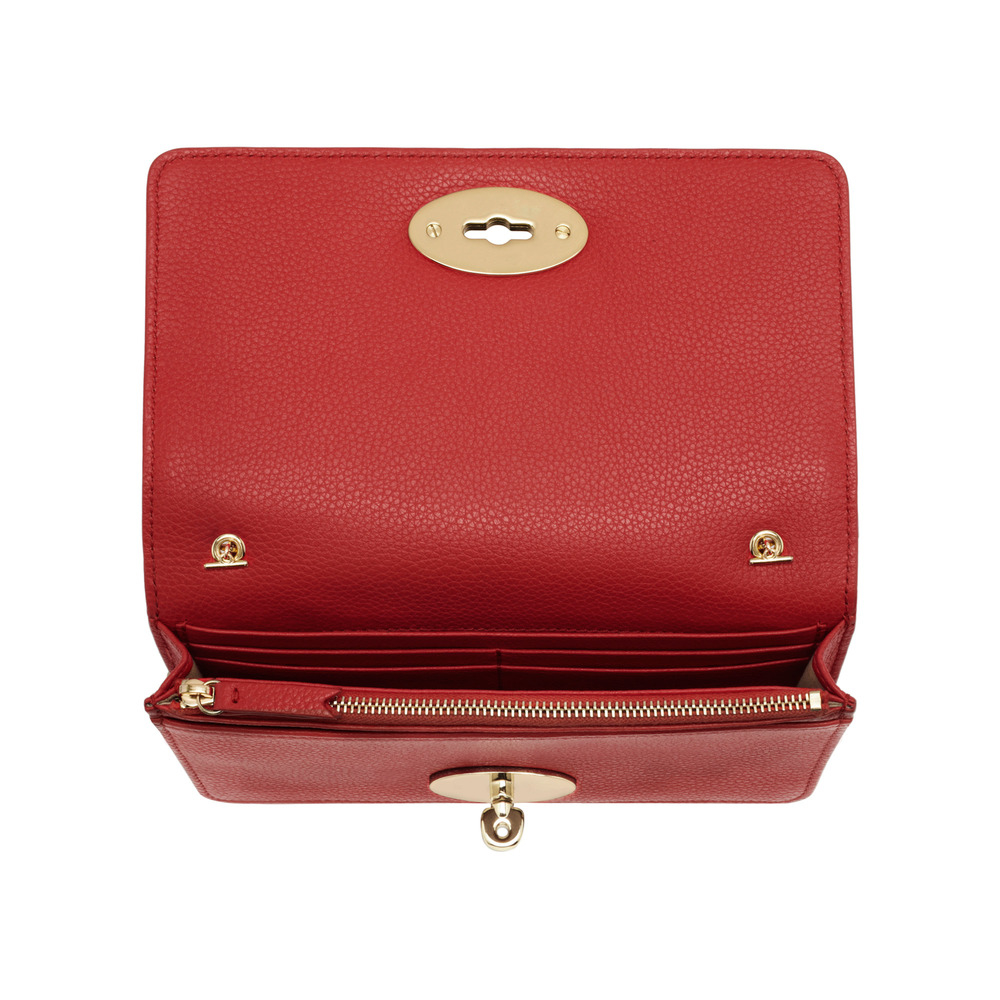 52ec2b27c4 ... free shipping mulberry bayswater clutch wallet in red lyst e2c96 13bad