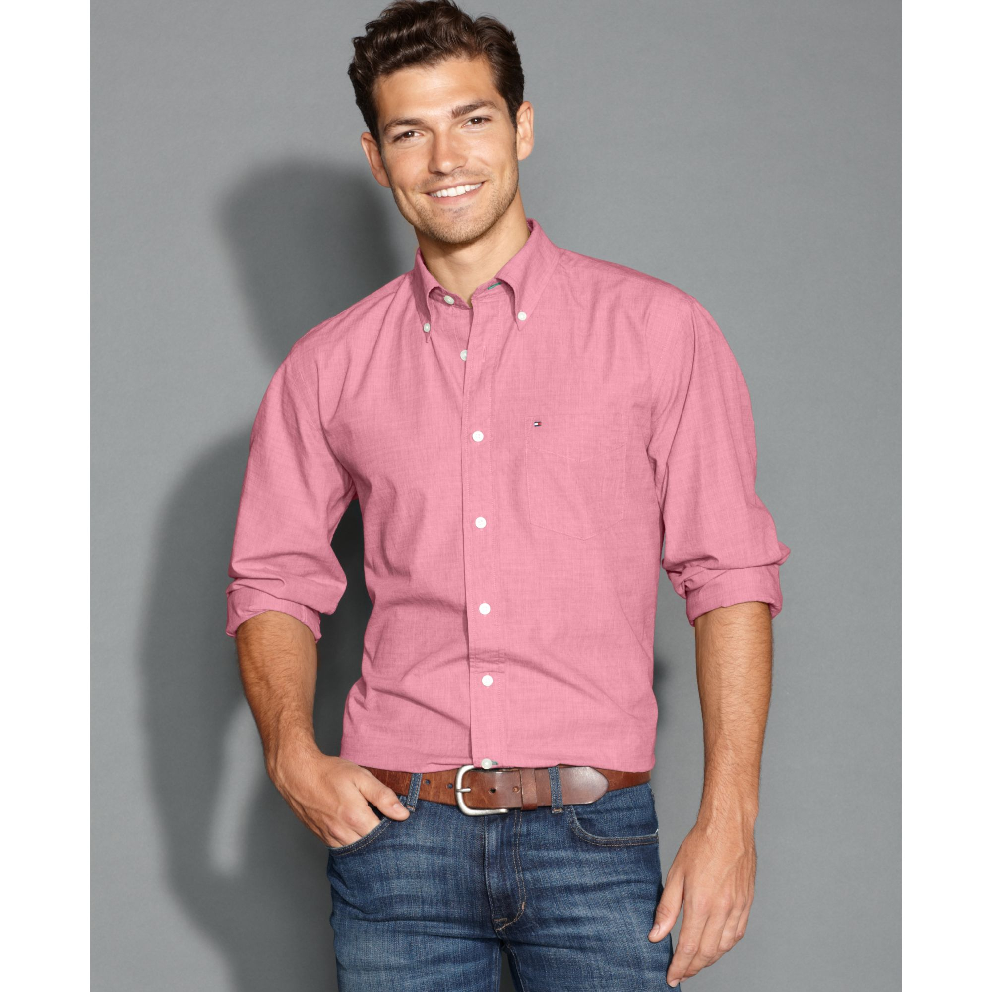 Mens Shirts Pink Custom Shirt