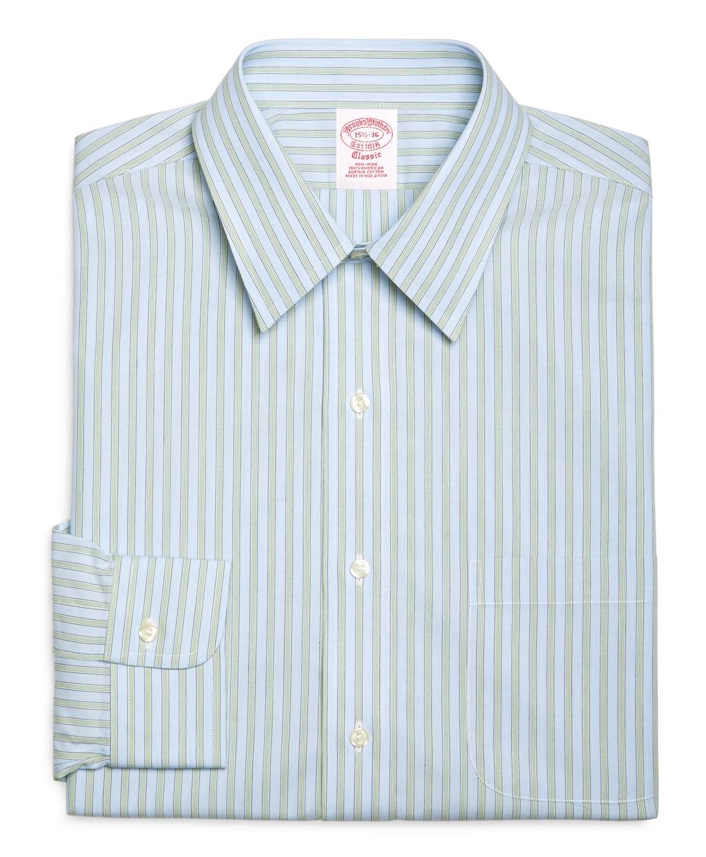 Brooks brothers supima cotton noniron slim fit point for Supima cotton dress shirts