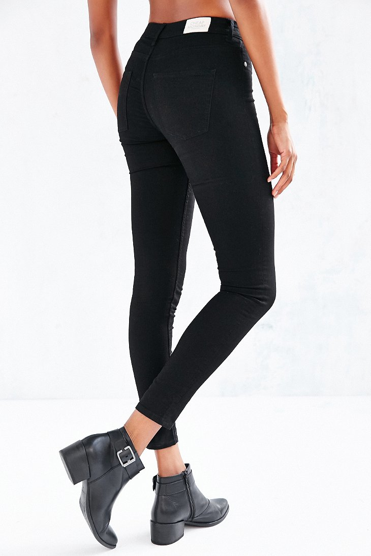 High waisted black jeans cheap monday – Global fashion jeans ...