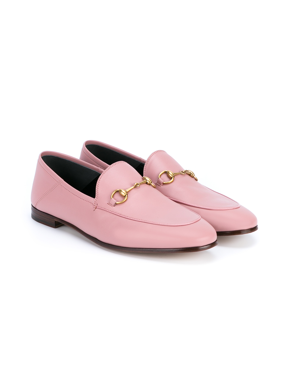 Lyst - Gucci Jordaan Horsebit Loafers in Pink