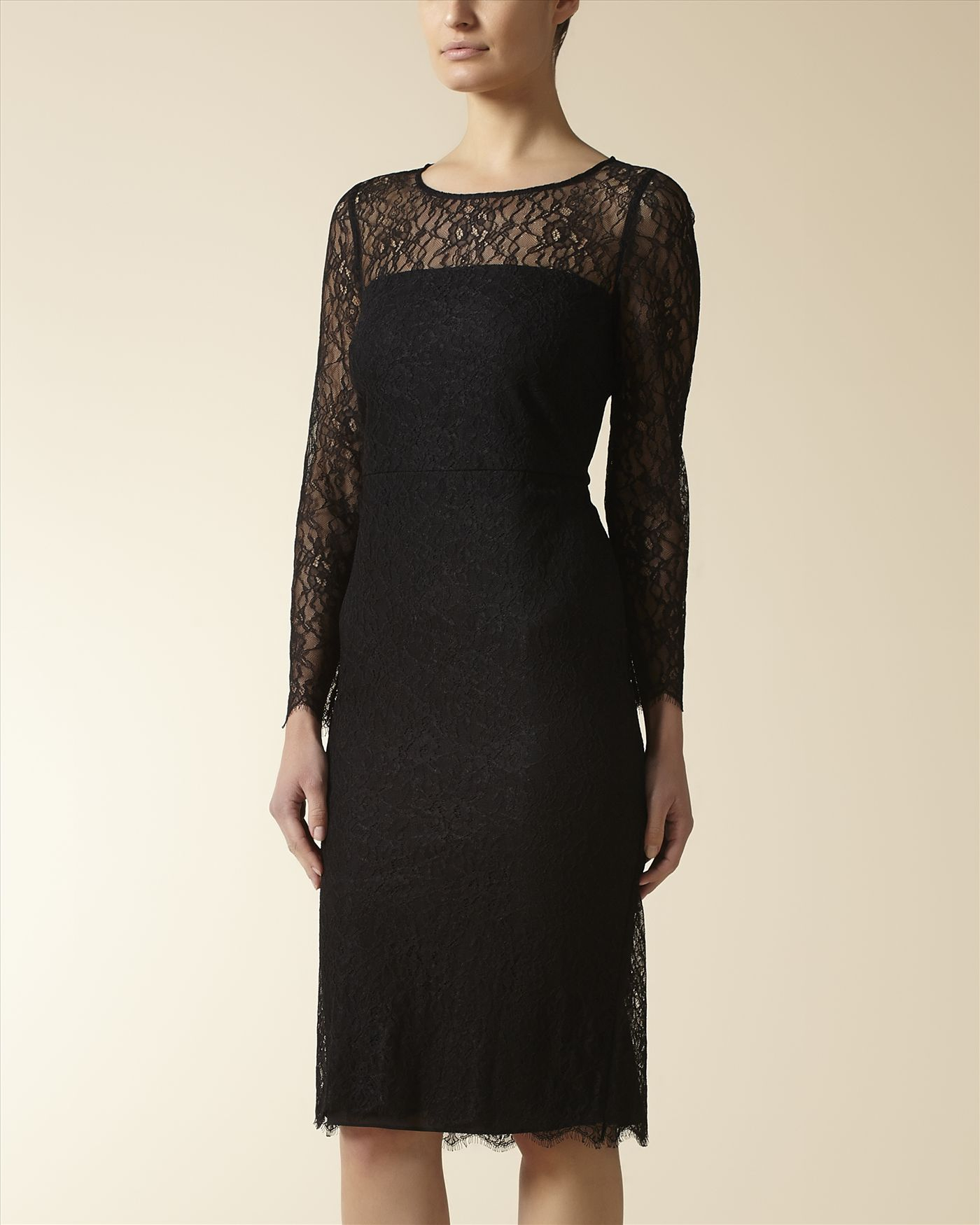 Black all over lace dress