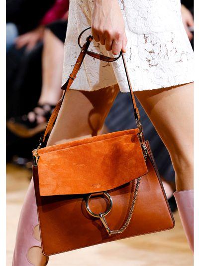 8b36e7ac6a Lyst - Chloé Medium Faye Leather   Suede Shoulder Bag in Brown