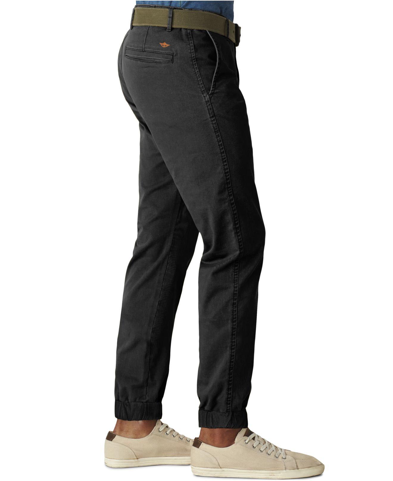 Lyst Dockers Alpha Slim Fit Jogger Pants In Black For Men