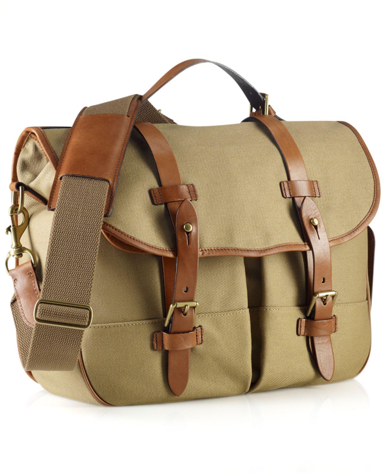 Lyst - Polo Ralph Lauren Core Canvas Messenger Bag in Natural for Men 2cf27dc697e4b