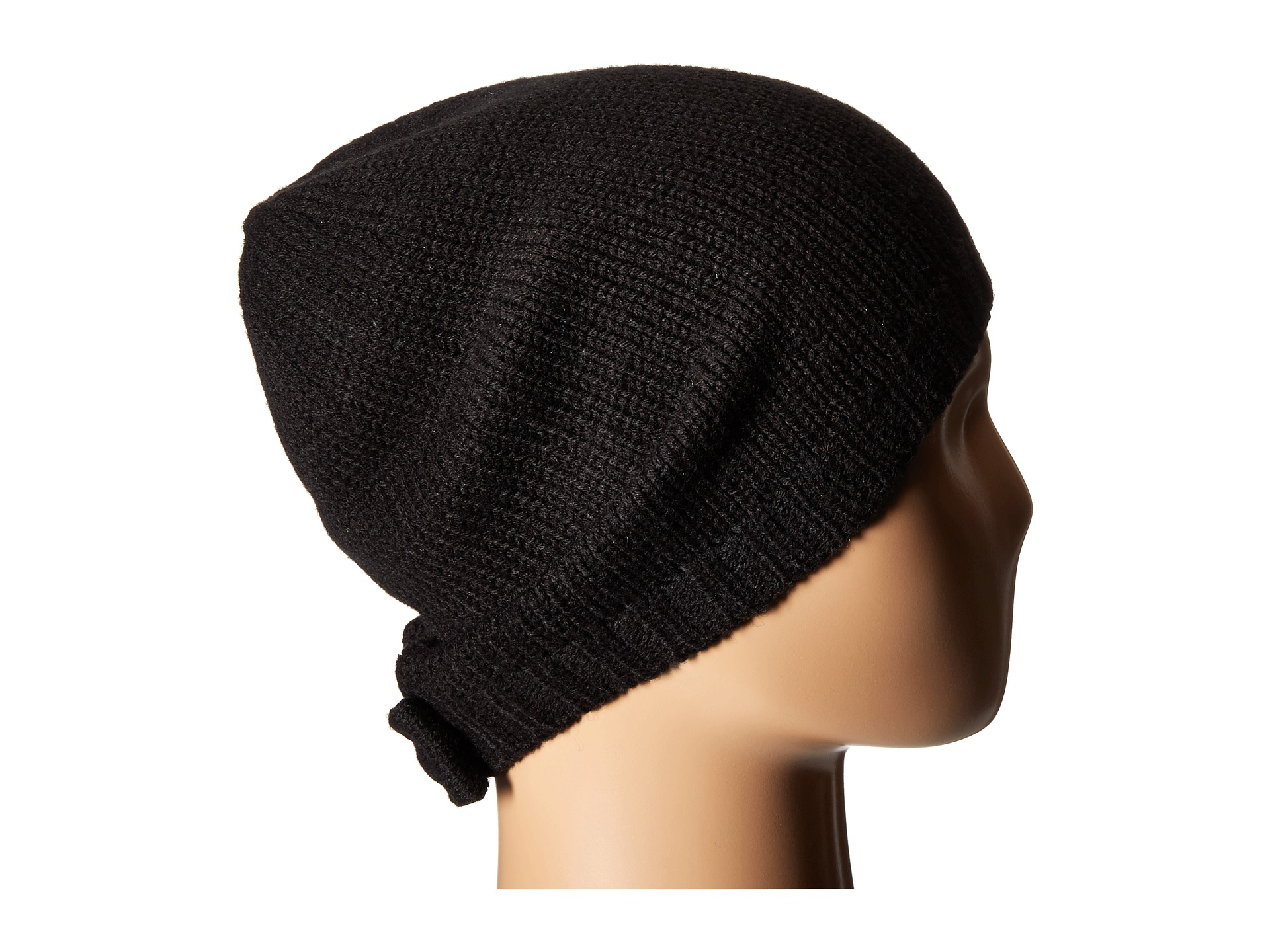 2e1ac7e31c6f5 Kate Spade Gathered Bow Beanie in Black - Lyst