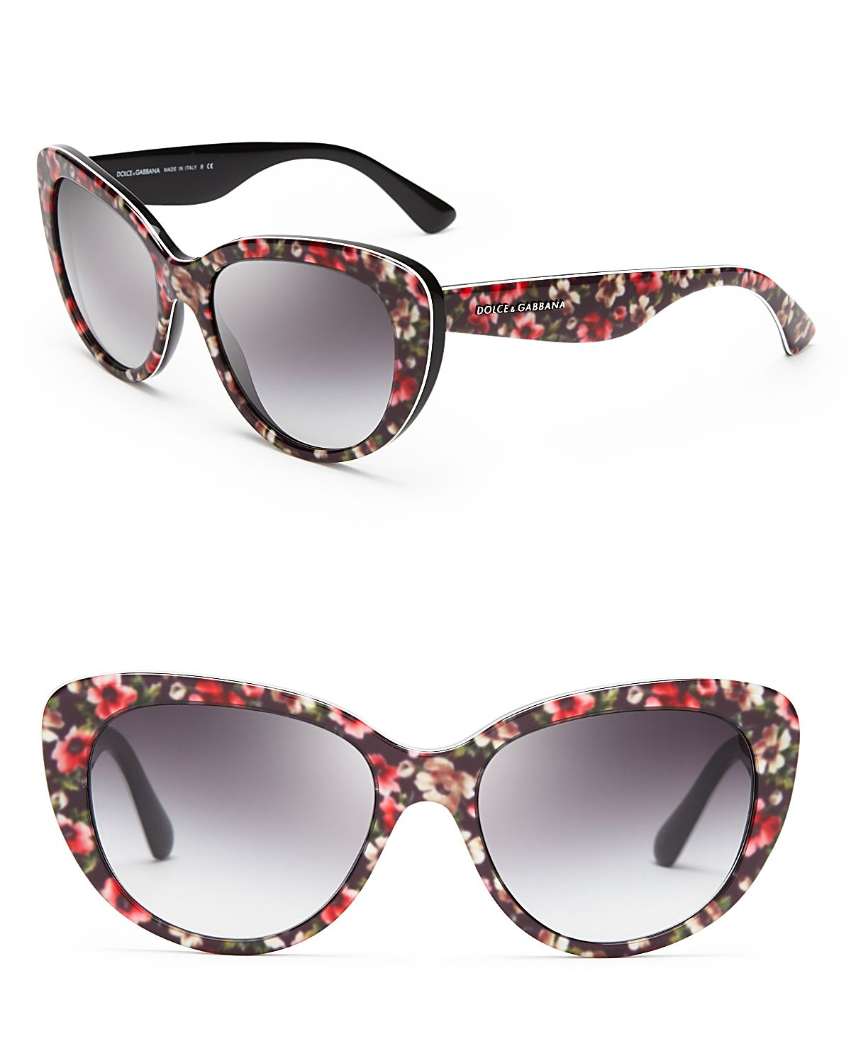 lyst dolce gabbana floral cat eye sunglasses. Black Bedroom Furniture Sets. Home Design Ideas