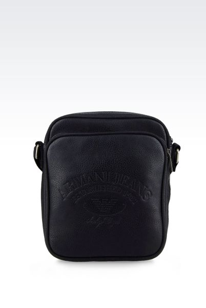 Armani Jeans Mens Shoulder Bag Grey Shoulder Bag