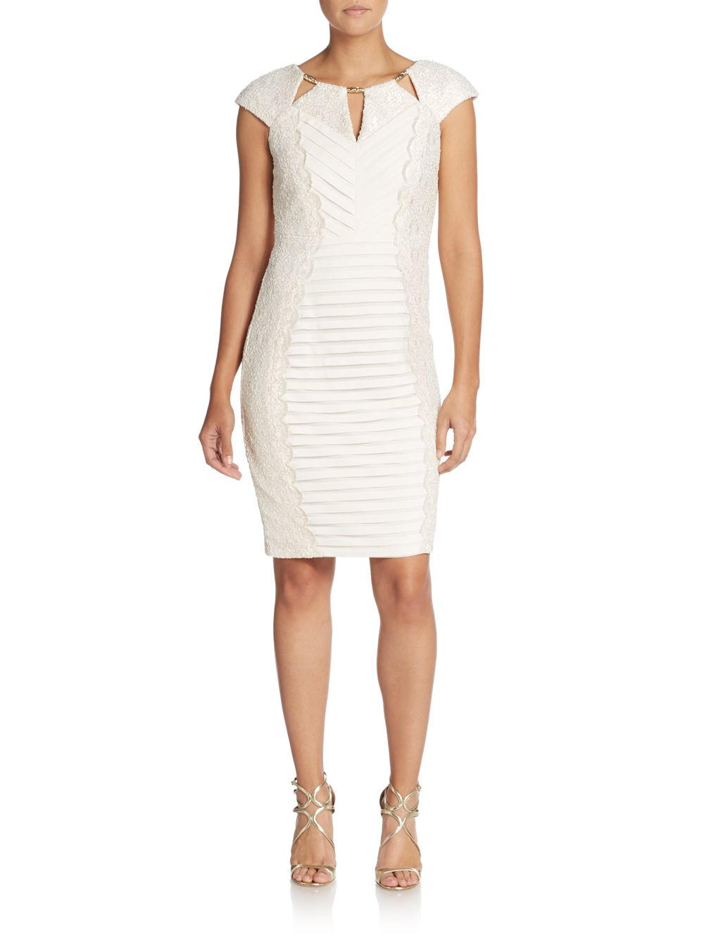 Lyst Jax Studio Lace Bandage Dress In White
