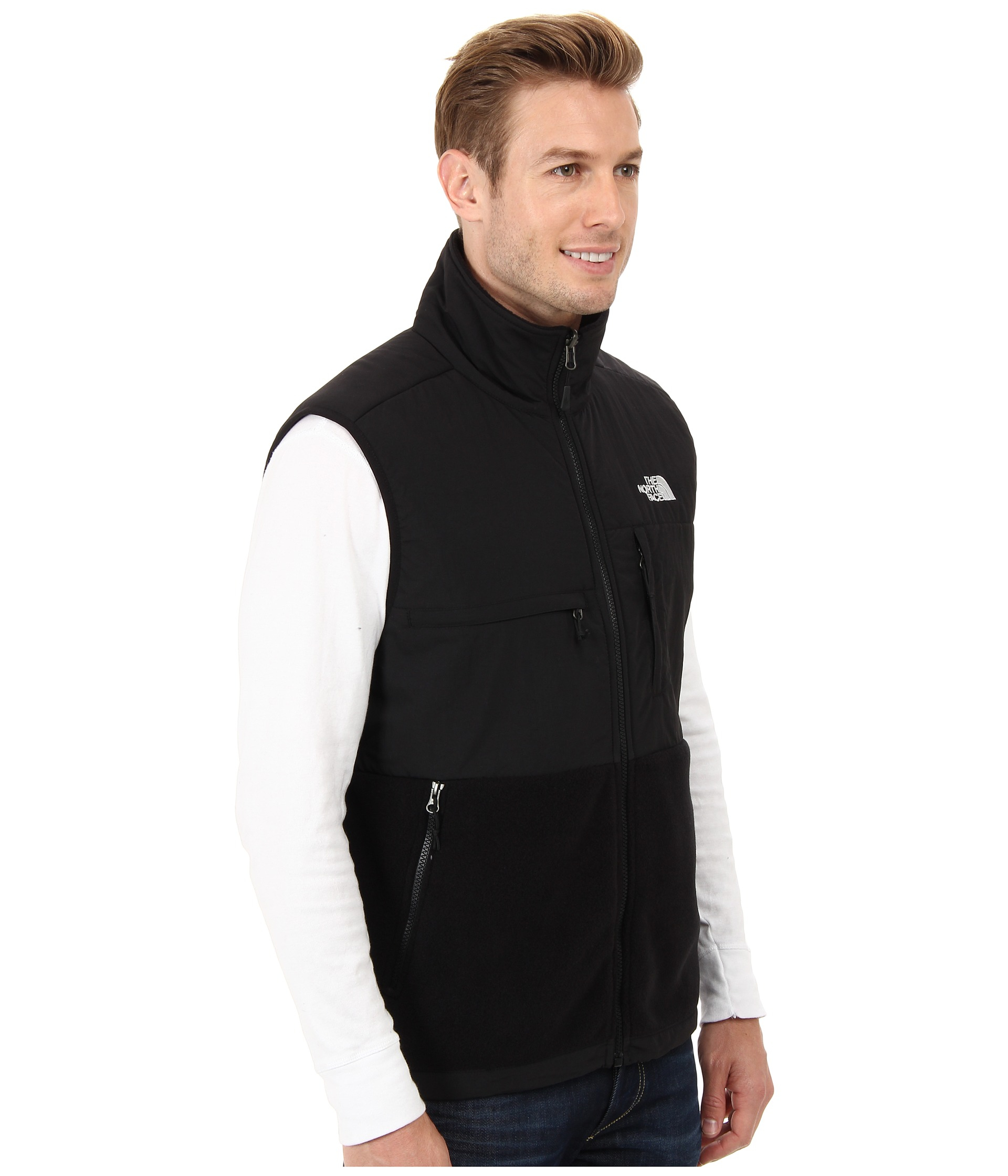 4be5c4a1023b ... jacket 83495 10a5b  best lyst the north face denali vest in black for  men c9801 d00c1