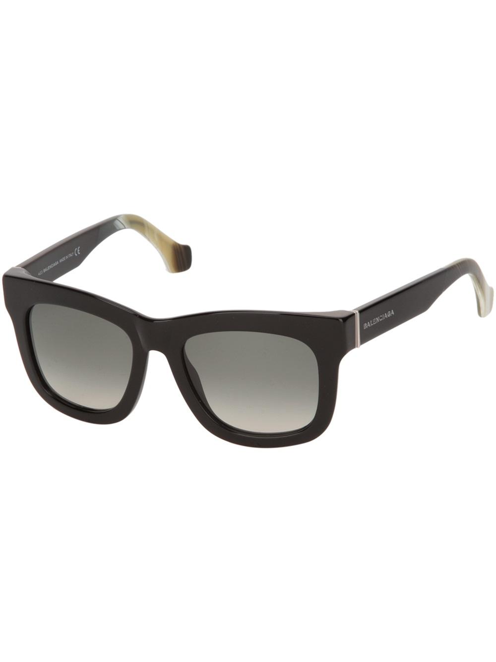 31a3dddd0ee Balenciaga Square Frame Sunglasses in Black for Men - Lyst