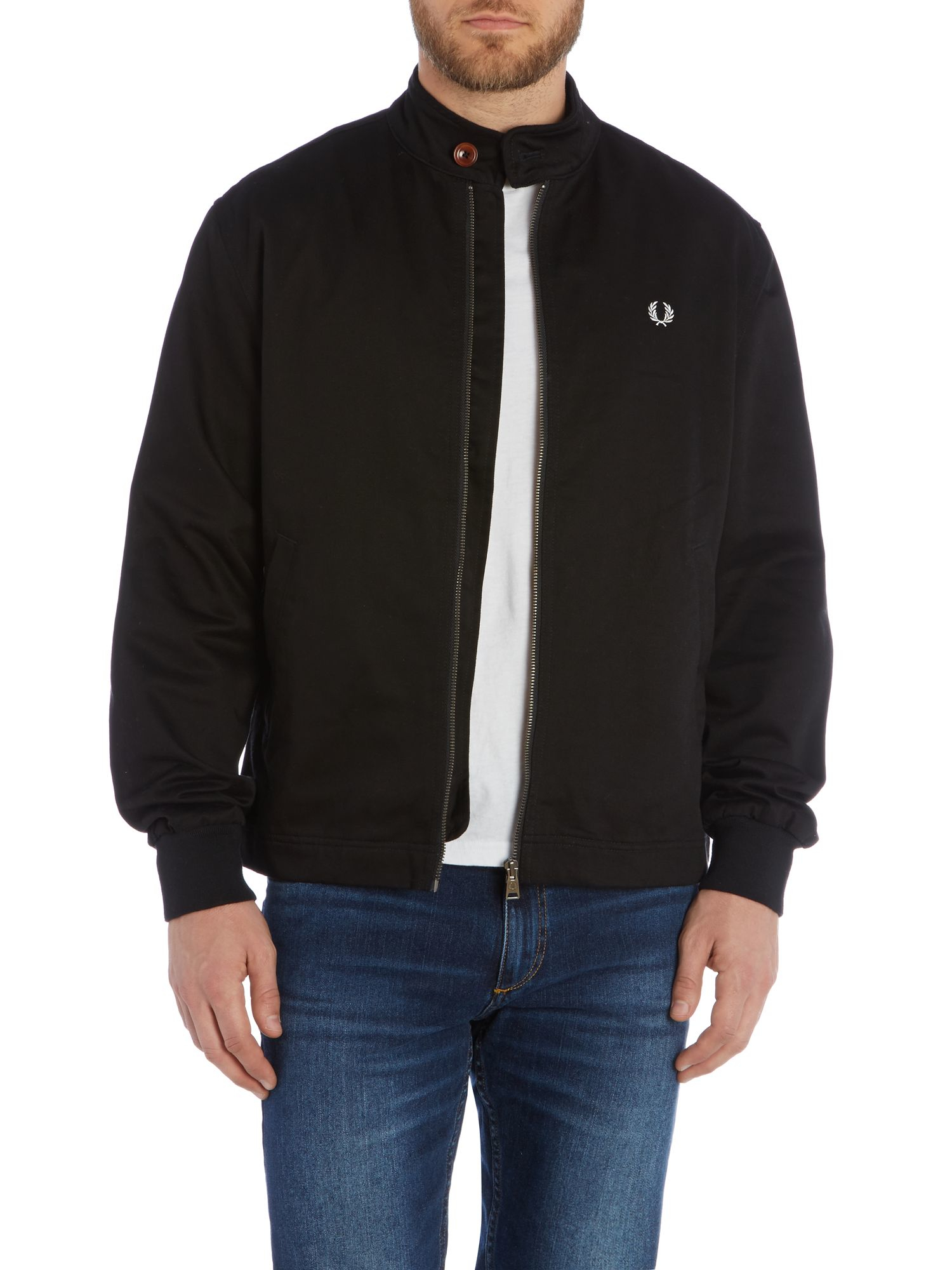 lyst fred perry scooter full zip jacket in black for men. Black Bedroom Furniture Sets. Home Design Ideas