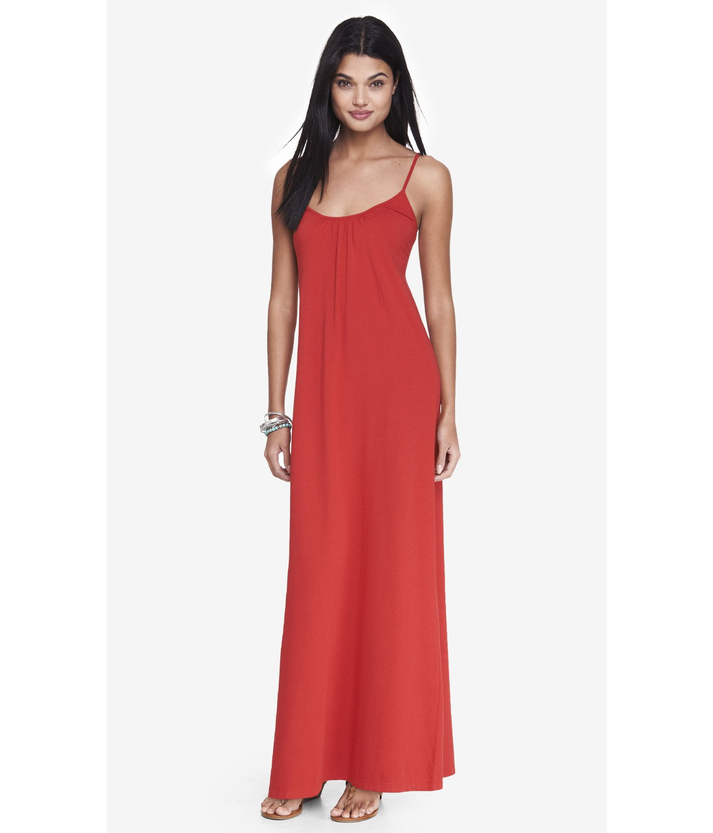 1eb68b643efaa Express Red Cut-Out Back Maxi Dress in Red - Lyst