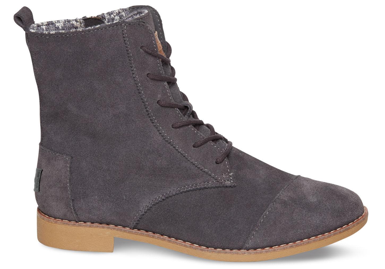 toms grey suede s alpa boots in gray grey