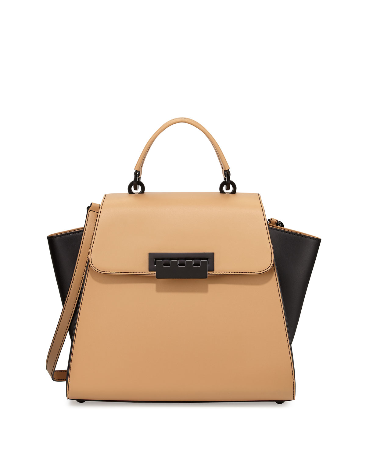Lyst Zac Zac Posen Eartha Colorblock Leather Tote Bag In