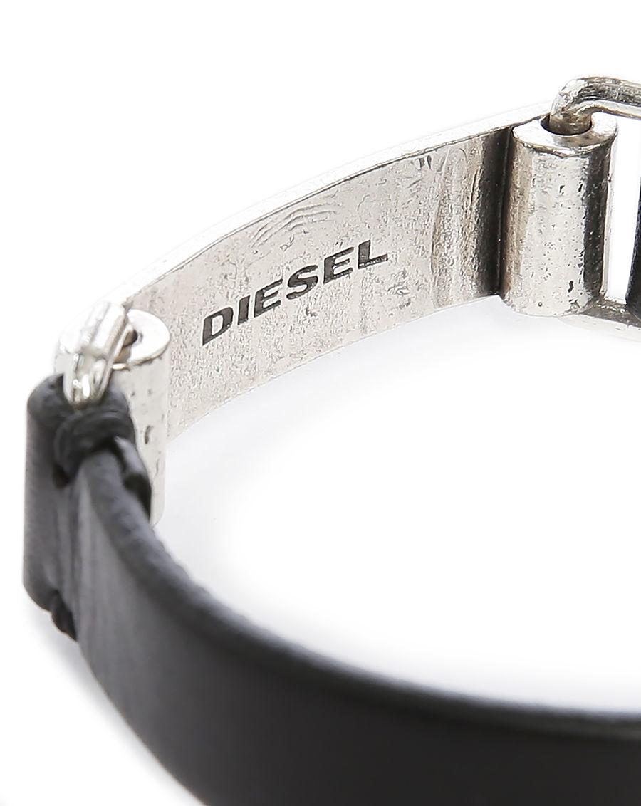 diesel bracelet cuir noir et argent ashark in black for men lyst. Black Bedroom Furniture Sets. Home Design Ideas