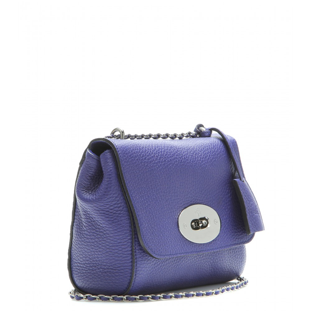 774ceb25c1ba Lyst - Mulberry Lily Texturedleather Shoulder Bag in Blue