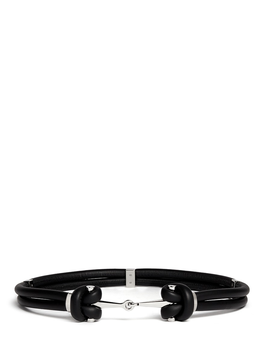 Double-strap patent leather belt Alexander McQueen TyWvBt