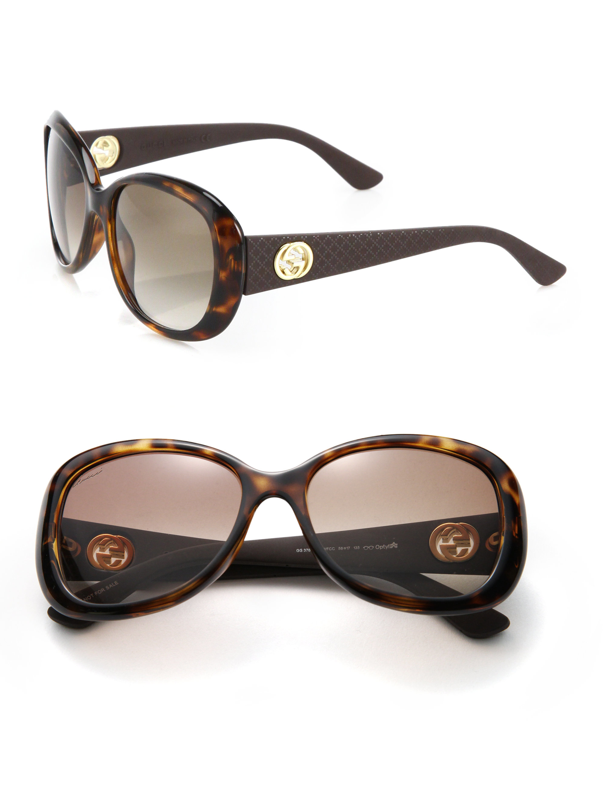 c1db8fcb49df6 Lyst - Gucci 56mm Square Optyl Sunglasses in Brown