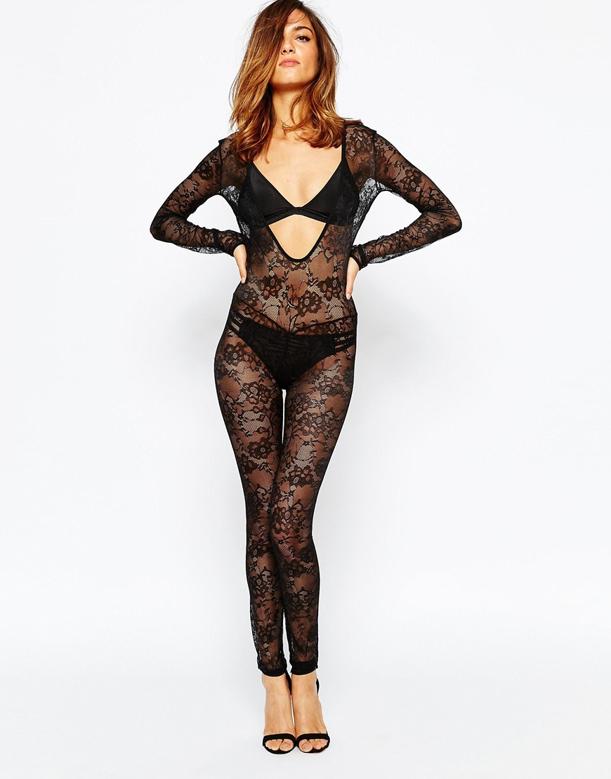 Maison close villa des lys catsuit in black lyst for Maison close