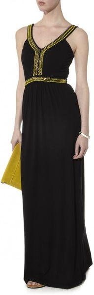 Maxi Beaded Dress in Black