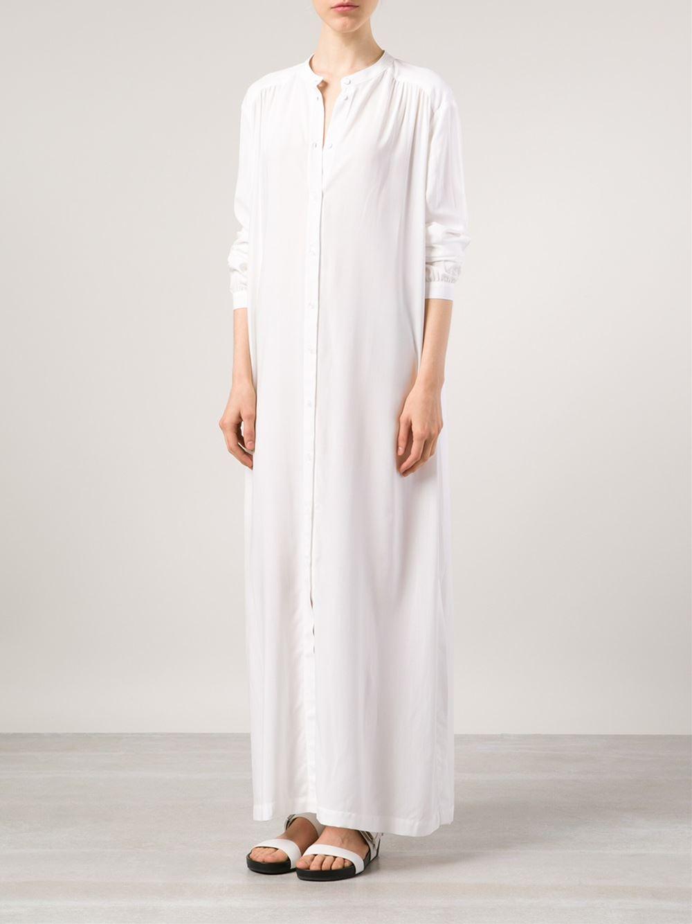 Lyst Rodebjer Long Shirt Dress In White