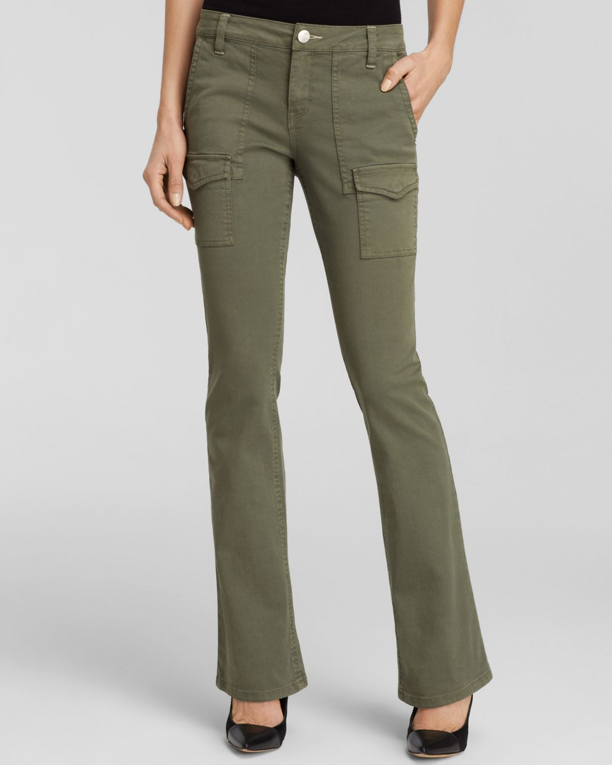 Sanctuary Bootcut Cargo Pants in Green | Lyst