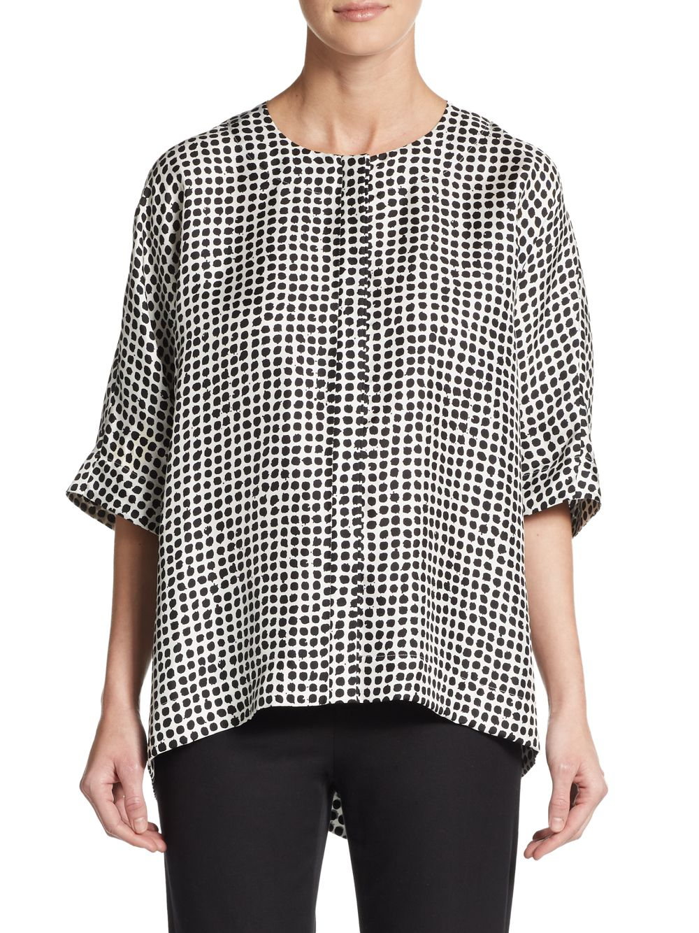 148 Best Images About Fingernail Art On Pinterest: Lafayette 148 New York Long-sleeve Gathered-front Top In