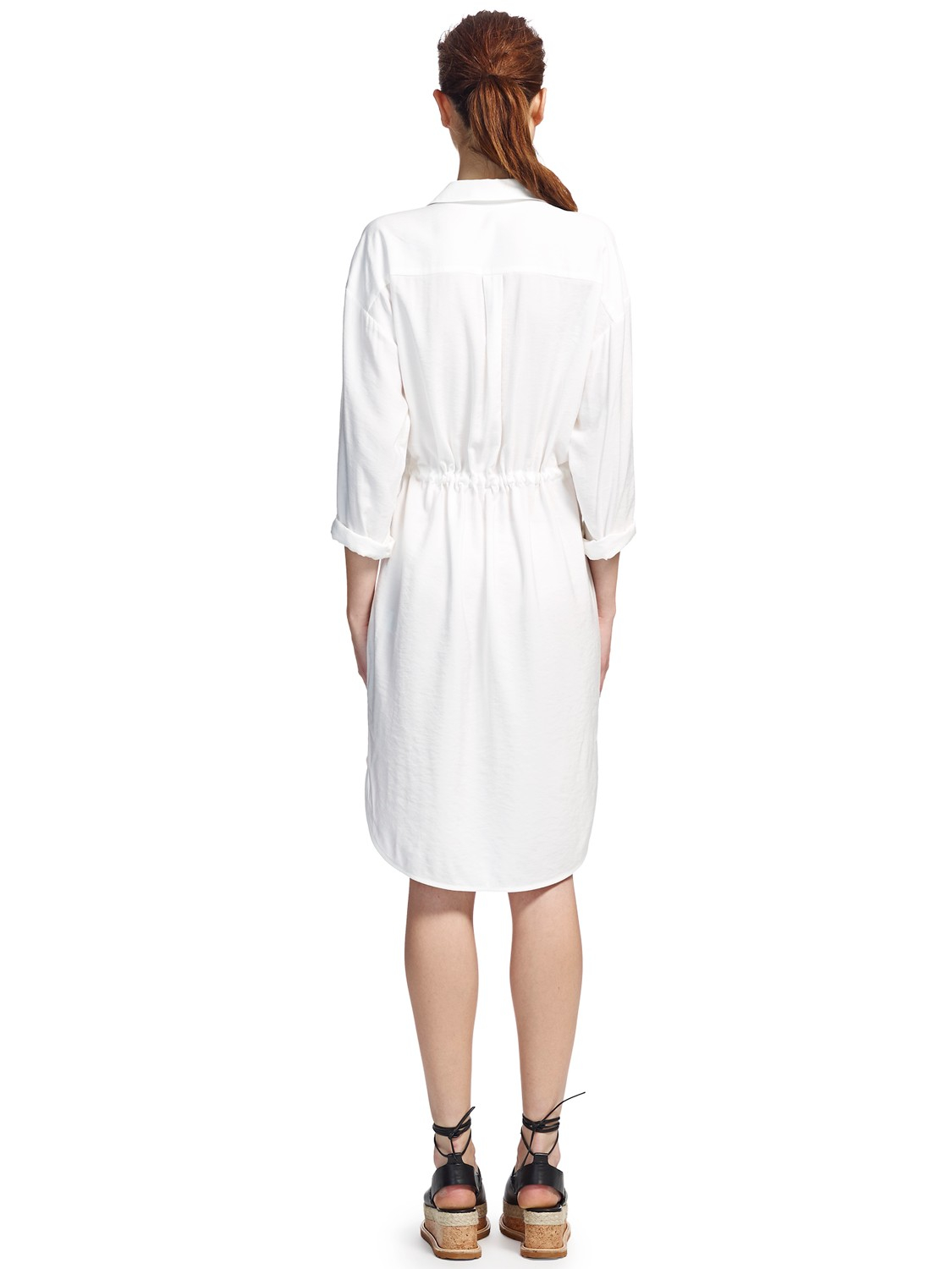 Whistles Paige Shirt Dress In Natural Lyst