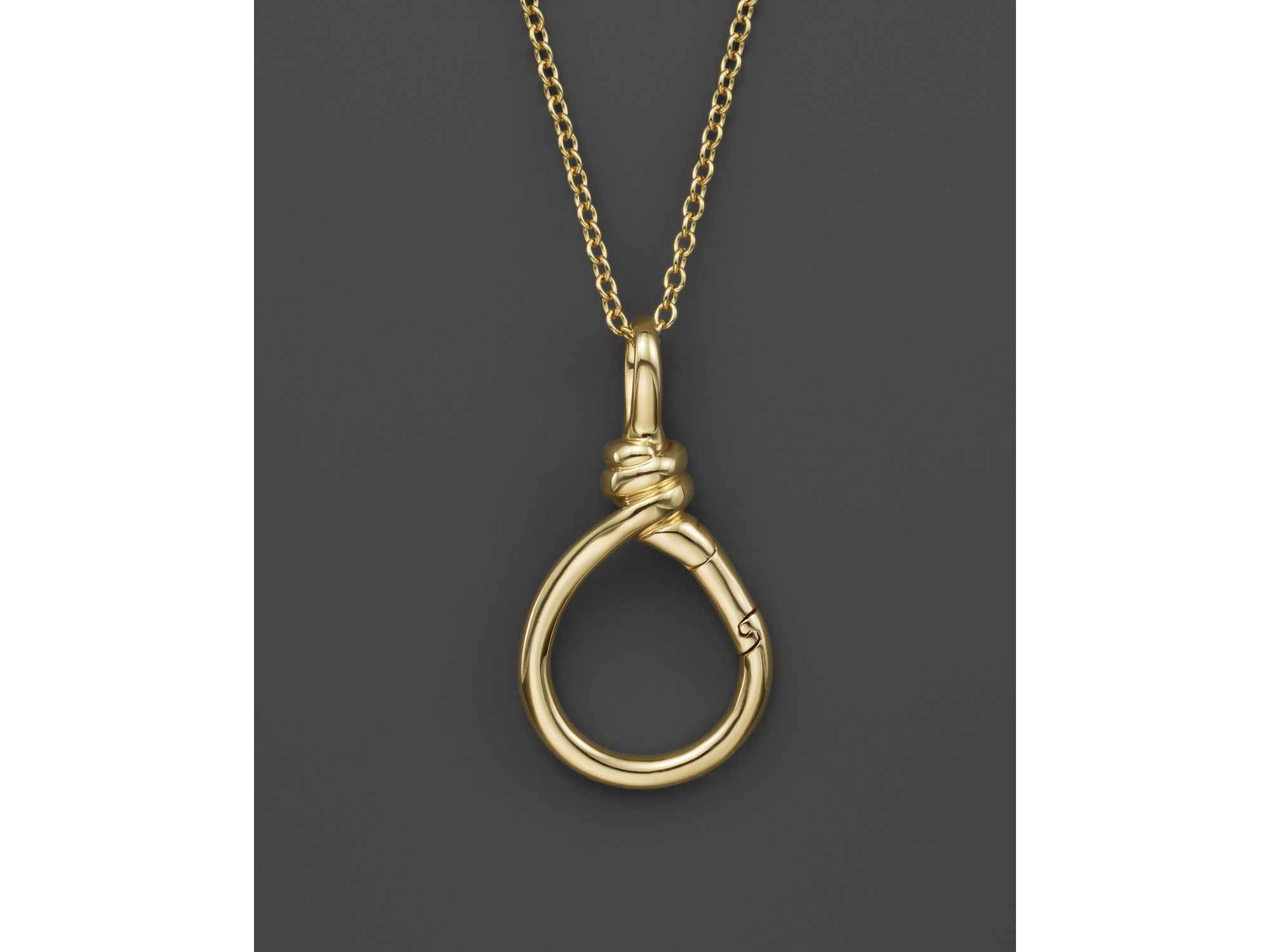 Lyst - Ippolita 18k Yellow Gold Twisted Wire Charm Holder in Metallic